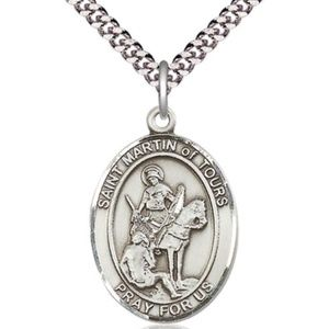 Sterling Silver St Martin of Tours Pendant